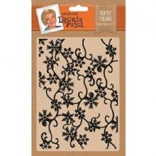 Crafters Companion Leonie Pujol 5x7 Christmas Embossing Folder - Softly Falling