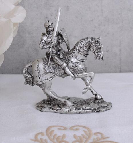 Ritter Mittelalter Reiterfigur Pferd Ritterrüstung Zinnfigur Sammelfigur