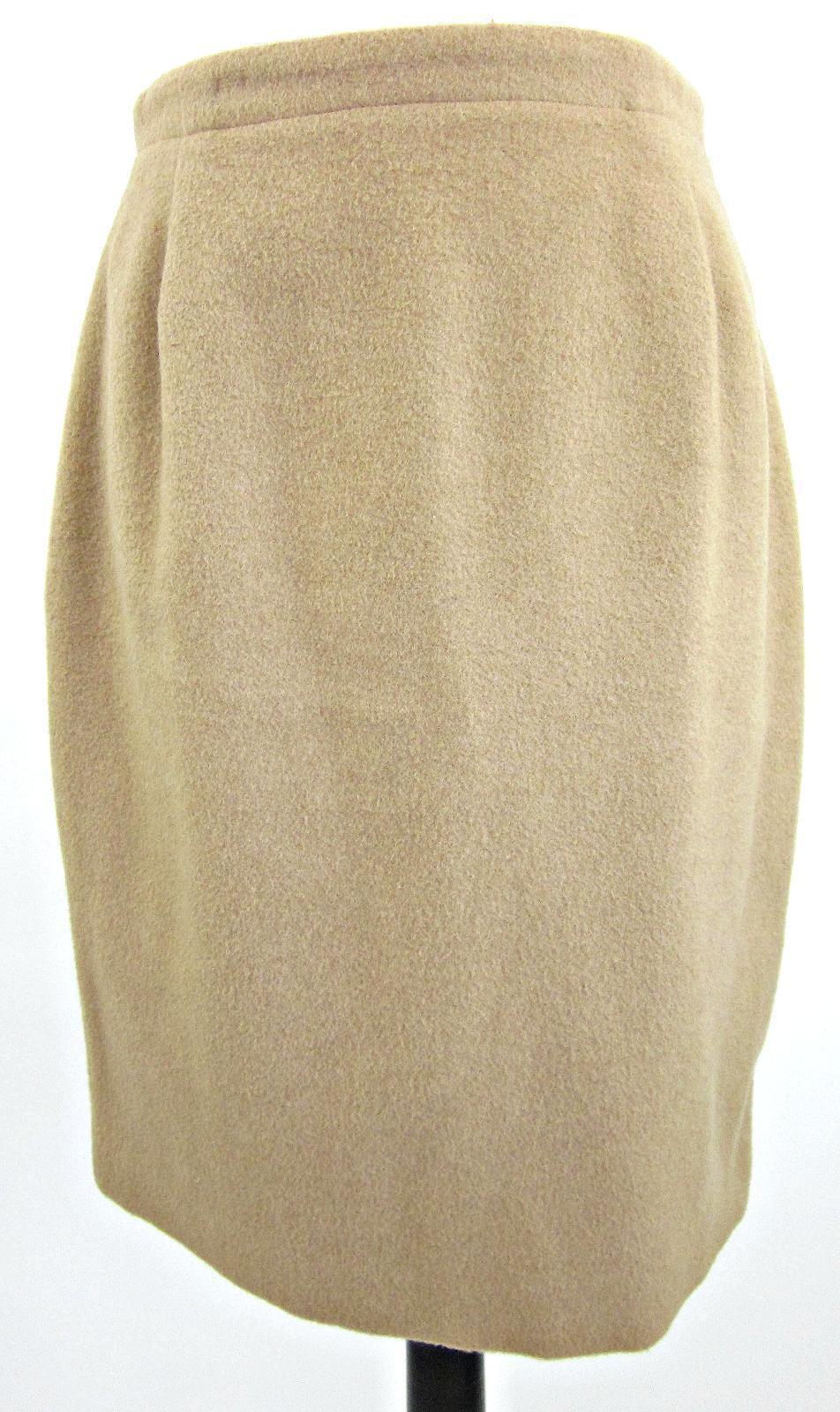 "Vintage Brooks Bredhers 100% Pure Camelhair Skirt 27 ½"" Waist Size 8 Fit Size 2"