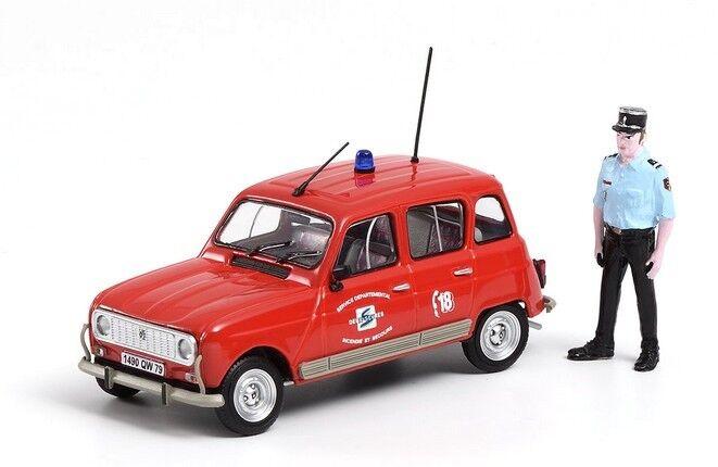 Renault 4 TL Pompiers  figurine ELIGOR