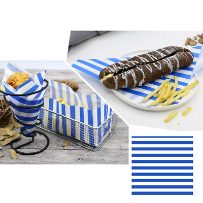 50pcs Stripe Wrapping Paper Bread Cake Cookies Food Soap Packaging Butter Baking