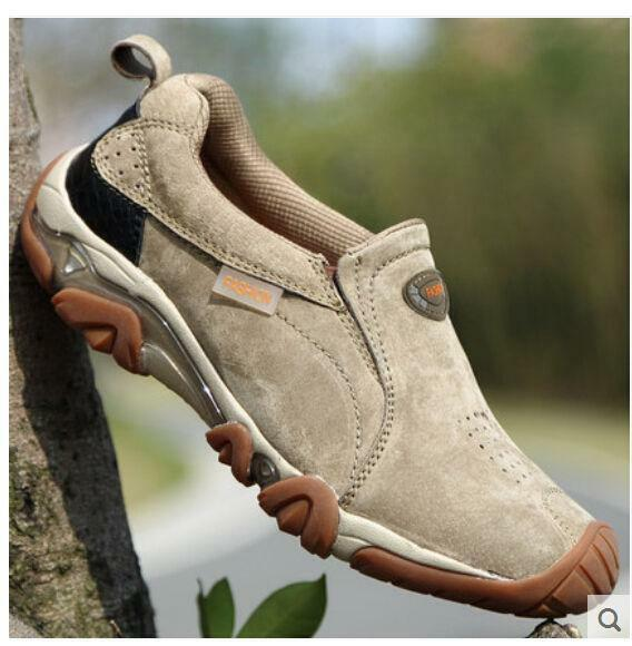Men's Suede Leather shoes Outdoor Breathable Hiking Casual Travel Sneakers Hot