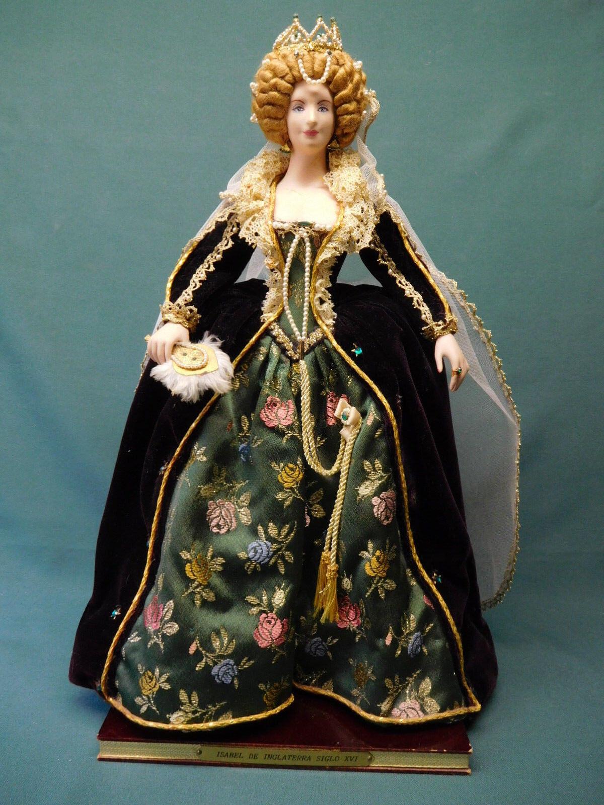 Marin Queen Isabel De Inglaterra Siglo XVI historical doll 171 7
