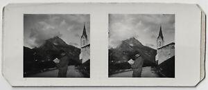 Amateur-Stereophoto-Lech-an-der-Flexenstrasse-um-1945