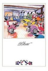 Kliban Cat Poster Aerobics Cats Pomegranate RARE!!!