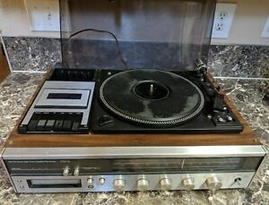 JC-Penny-683-1770-Vintage-1977-AM-FM-Stereo-Cassette-8-Track-Record-Player-Used