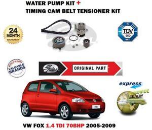 VW-Fox-1-4TDI-6V-2005-2009-Neuf-GATES-Courroie-de-Distribution-Pompe-a-Eau-Kit