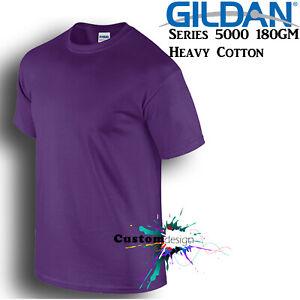 Gildan-T-SHIRT-Purple-basic-tee-S-M-L-XL-XXL-XXXL-Men-039-s-Heavy-Cotton