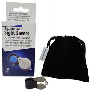 Bausch-amp-Lomb-Professional-Loupe-Triplet-14X-Magnifier-Gold-Jeweler-Coin-Diamond