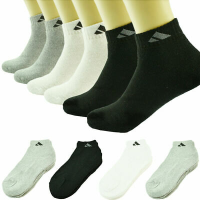Marijuana 3 Pairs Men Ankle Quarter Crew Sports Socks Cotton Low Cut Size 9-11