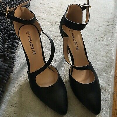 black strappy shoes uk