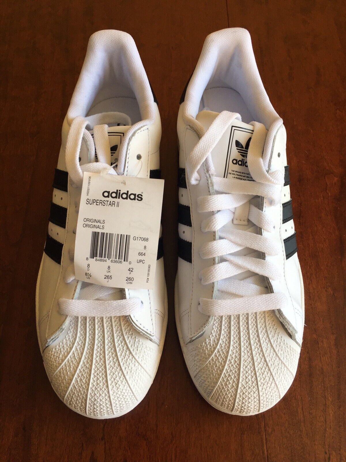 New With Tag, Adidas Originals Men's Superstar ll Sneaker US Men's Size 8 1 2