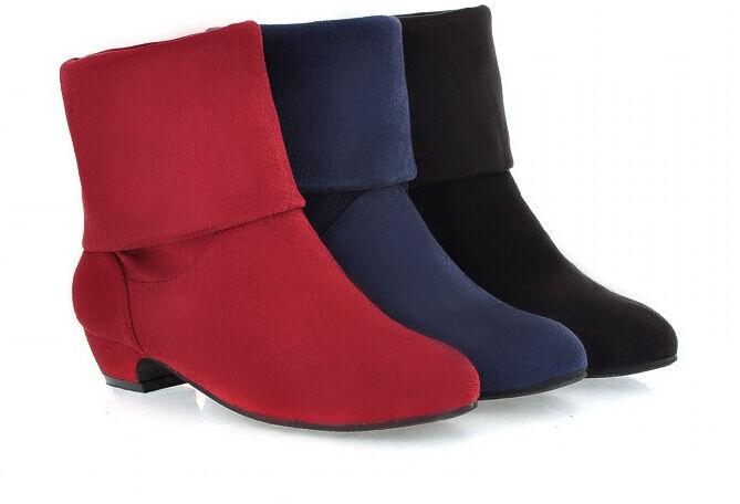 stivali 3 stivaletti invernali comodi Zapatos mujer tacco 3 stivali rosso blu nero 8726 ce5e9c