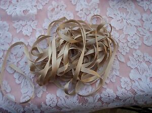 "100% PURE DOUBLE FACE SILK/SATIN RIBBON 7 MM [1/4""] 10 YDS CHAMPAGNE ~SALE~"