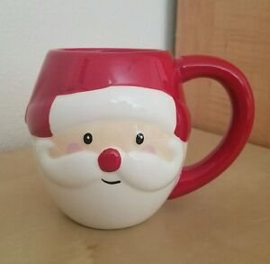 BRAND-NEW-MAGENTA-SANTA-CLAUS-CHRISTMAS-Mug-Holiday-Home-Decor
