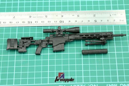 "1//6 Scale Weapon Model Assembly Sniper rifle Gun 4D Black MSR For 12/"" Figure"