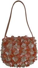 Abendtasche Rosa Champagner Muschelkern Perlen Hochzeit Clutch embroidered shell