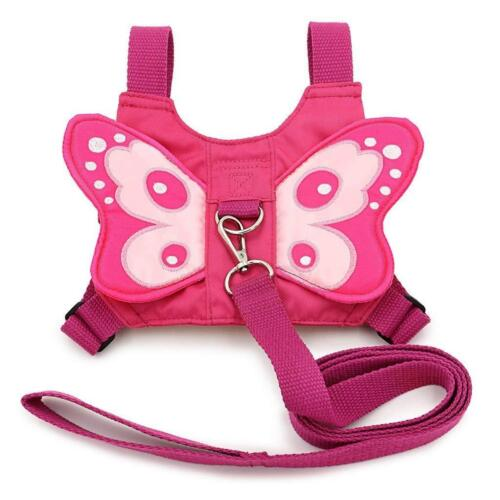 Pink Toddler Reins Child Butterfly Wings Infant Safety Harness Walking Toddling