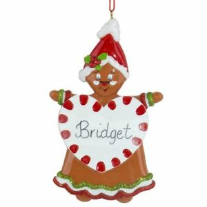 Sweet Gingerbread 1 2 3 4 5 6 Personalized Christmas Ornament Kit