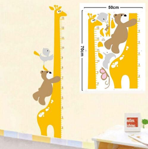 Wandtattoo Wandsticker Maßband Baby Kind Messlatte Tier Baum Kinderzimmer Dek WG