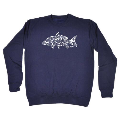 La pesca per bambini Felpa Maglione Divertente-Pesca Carpa Gancio