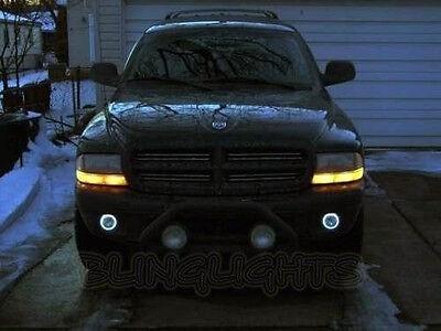 White Halo Fog Lamps lights for 1997-2011 Dodge Dakota 06 07