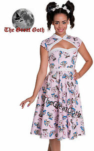 Hell-Bunny-50s-Madeline-Fairground-Carousel-Dress-Rockabilly-Pink-ALL-SIZES-NEW