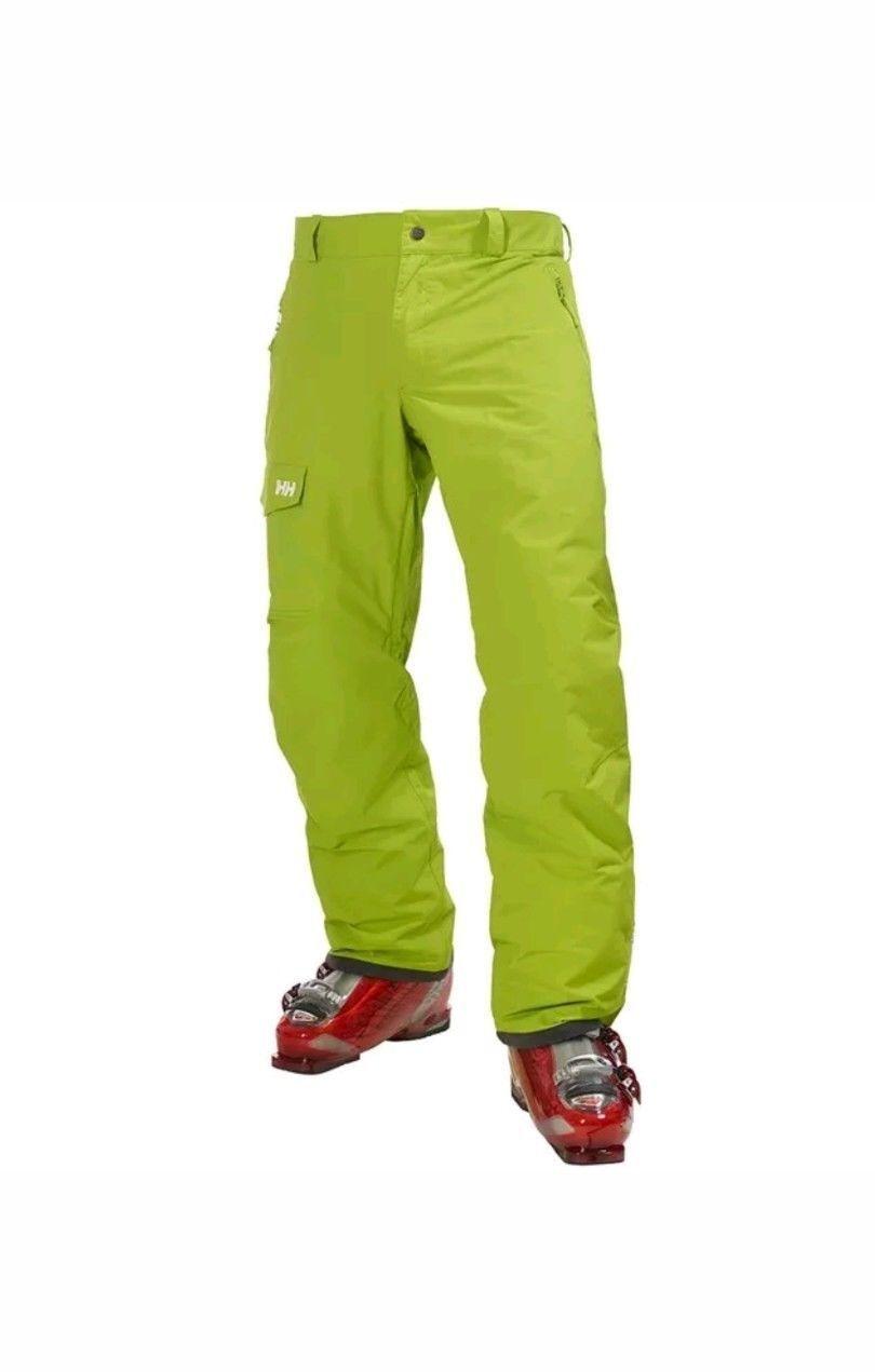 HELLY HANSEN Mens Lime Green Legend Cargo RECCO ARS Ski Pants Trousers XXL BNWT