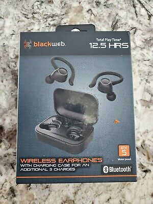 Blackweb Ipx5 Wireless Earphones Black Waterproof Bluetooth 681131279536 Ebay