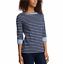 NEW-NAUTICA-WOMEN-039-S-3-4-CUFFED-SLEEVE-CHAMBRAY-CASUAL-TOP-VARIETY thumbnail 6