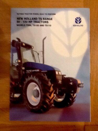 New Holland Ts90 100 And Ts110 Sales Brochure