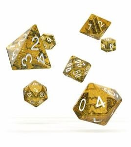 Oakie-Doakie-Dice-RPG-Cube-Set-Speckled-Orange-7-Role-Playing-Game-Cube-Box