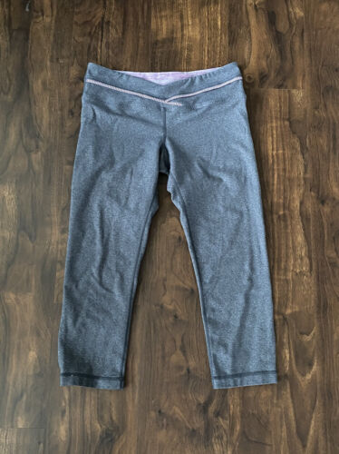 Lululemon Priiti Ruffle Crop Heathered Coal Muted… - image 1