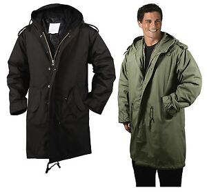 Black/OD M-51 Fishtail Parkas - Military Jacket Winter Coat 1951 ...