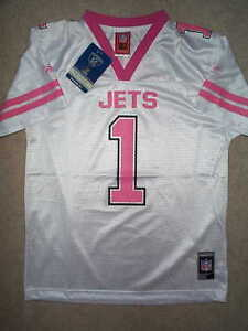 fcb3145b PINK New York NY Jets #1 nfl REEBOK Jersey Youth *GIRLS* (xl-16) | eBay