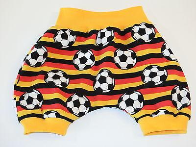 Fussball Pumphose Gr.74/80 - Kurze Baby Mitwachshose - Handmade Dawanda Sale Schrumpffrei