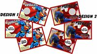 Superman Personalized Scratch Offs Party Games Game Cards Birthday Party Favors
