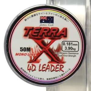 Terra-Leader-4D-50m-0-286mm-clear-monofile-Angelschnur-Vorfachschnur