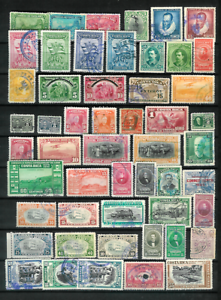 COSTA-RICA-Page-of-Mostly-Older-Stamps-Fine-Used-All-Different-to-1-Colon