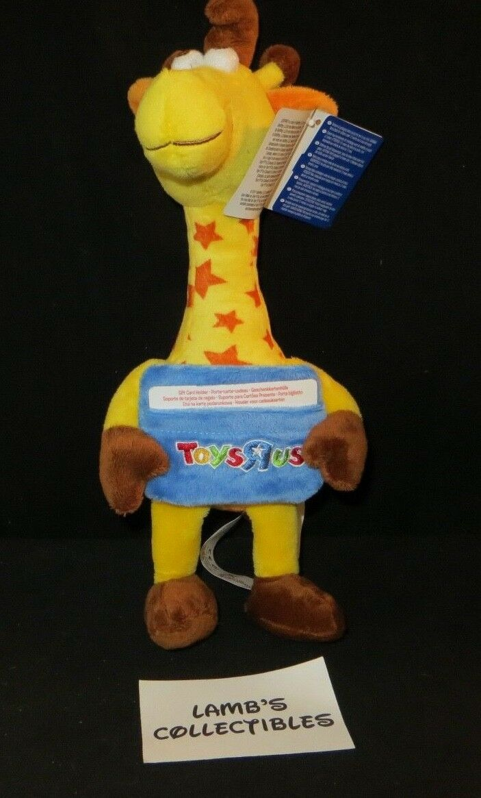 Geoffrey Toys R US 13  plush gift card holder collectible toy