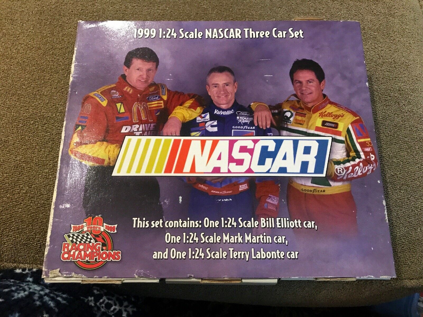 1999 Racing Champions 10th Anniversary 1 24 Scale NASCAR Three Three Three Car Set New (MB) 869c8e