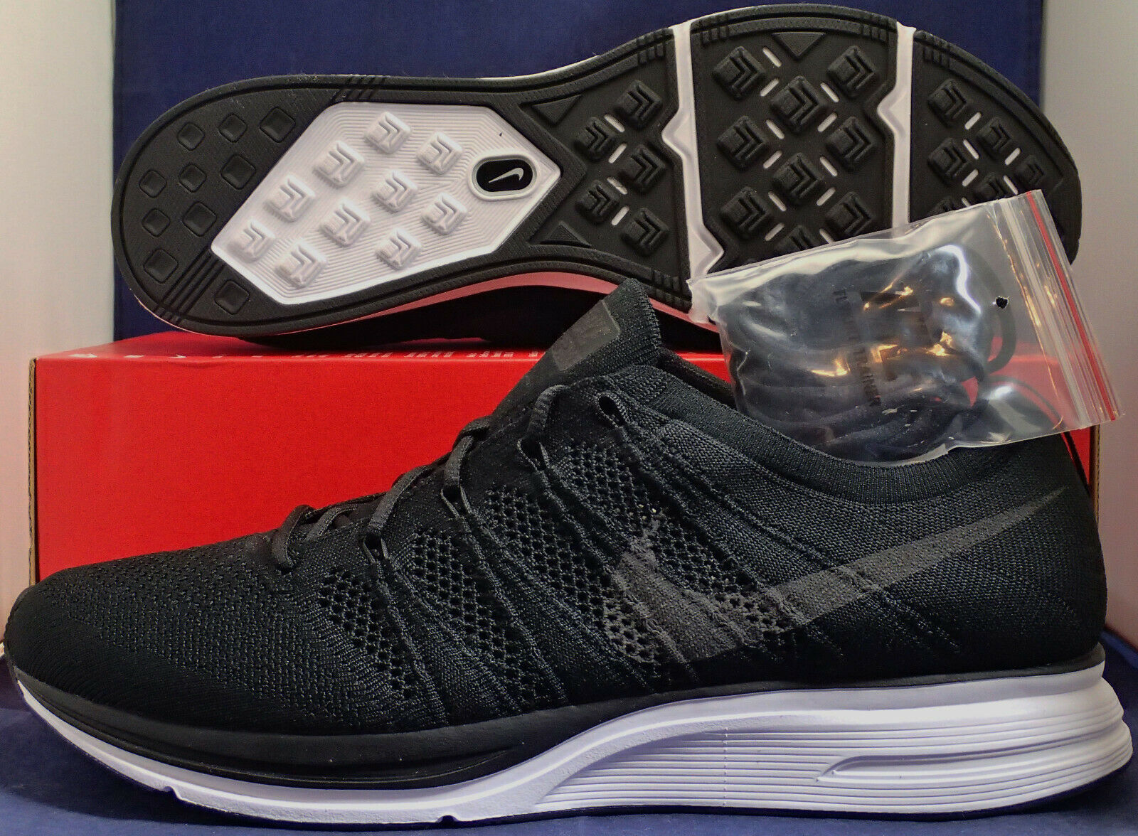 Nike Flyknit Trainer Schwarz Weiß Sz 11.5 (AH8396-007)
