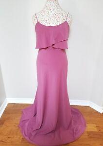 89b5dd34840 JENNY YOO Blake Pink Sleeveless Tiered Bodice Maxi Bridesmaid Gown ...
