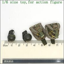 A31-20 1/6 scale DAMTOYS 78033 BRITISH ARMY GRENADE & POUCH *2
