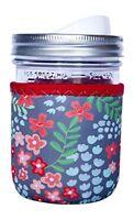 Jarz - 1 Neoprene Mason Jar Coozie 16 Oz Insulator Sleeve - Flourishing, New, F on sale