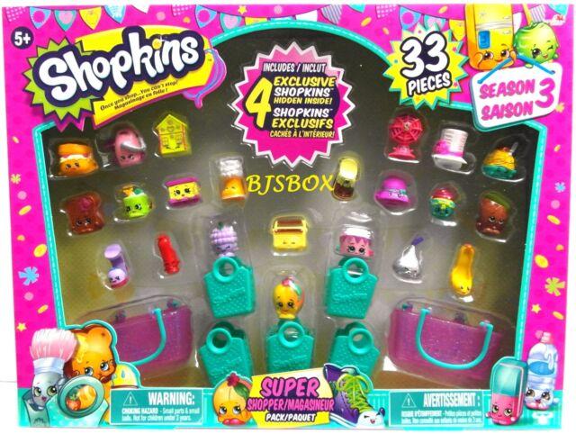 Shopkins Season 3 Super Shopper Pack 33 Pieces 22 Figures + 4 Exclusive New