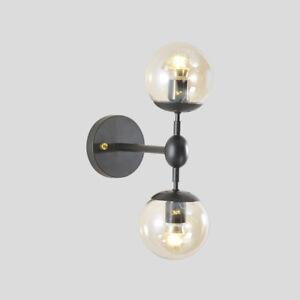 Modern Wall Lights Bedroom Gl Lamp Indoor Black