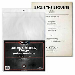 1-Case-1000-BCW-Sheet-Music-Bags-acid-free-archival-quality-1-inch-flap