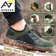 AtreGo Men's Indestructible Steel Toe Cap Safety Work Shoes Lightweight Trainers