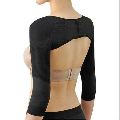 New Women Slim Arm Correct Back Posture Humpback Prevent Long Sleeve Shaper - LD